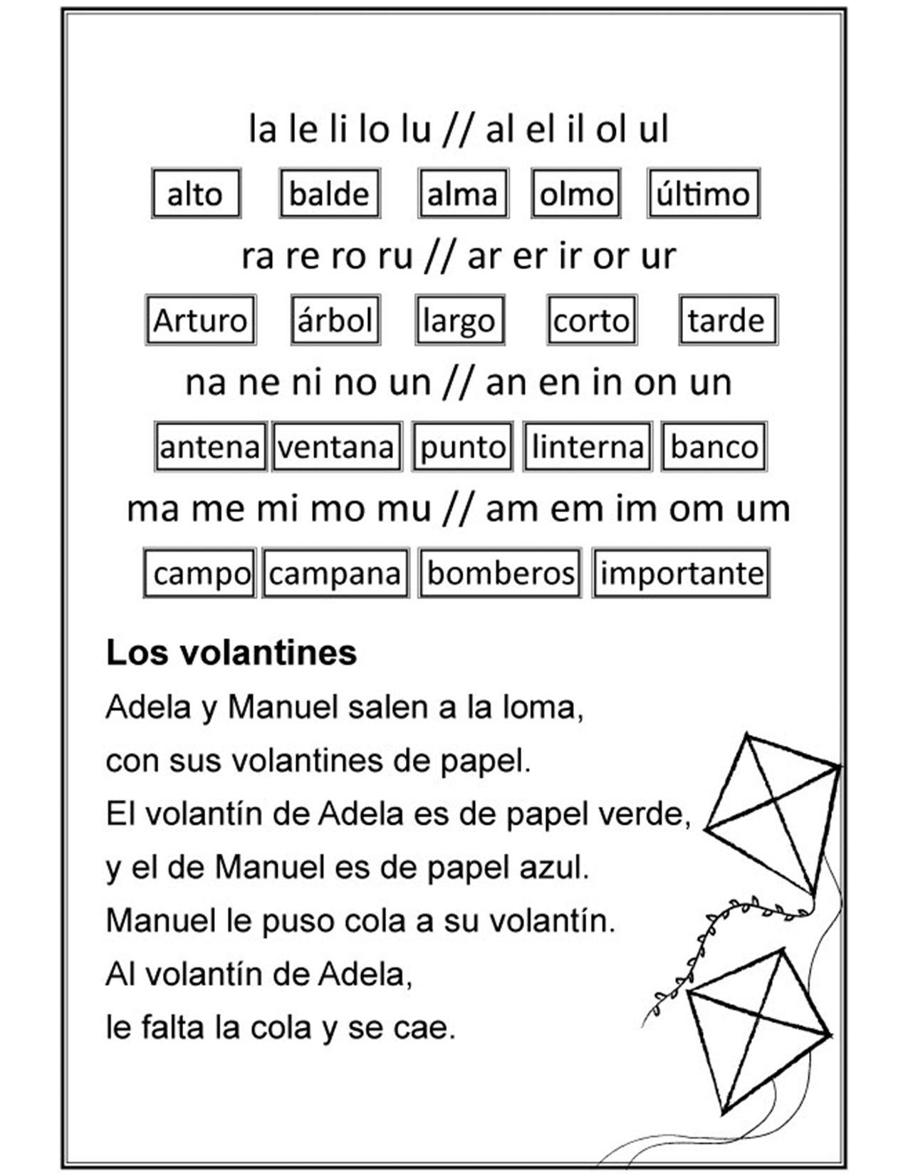Estudio De Palabras Con Silabas Indirectas Ficha No 23