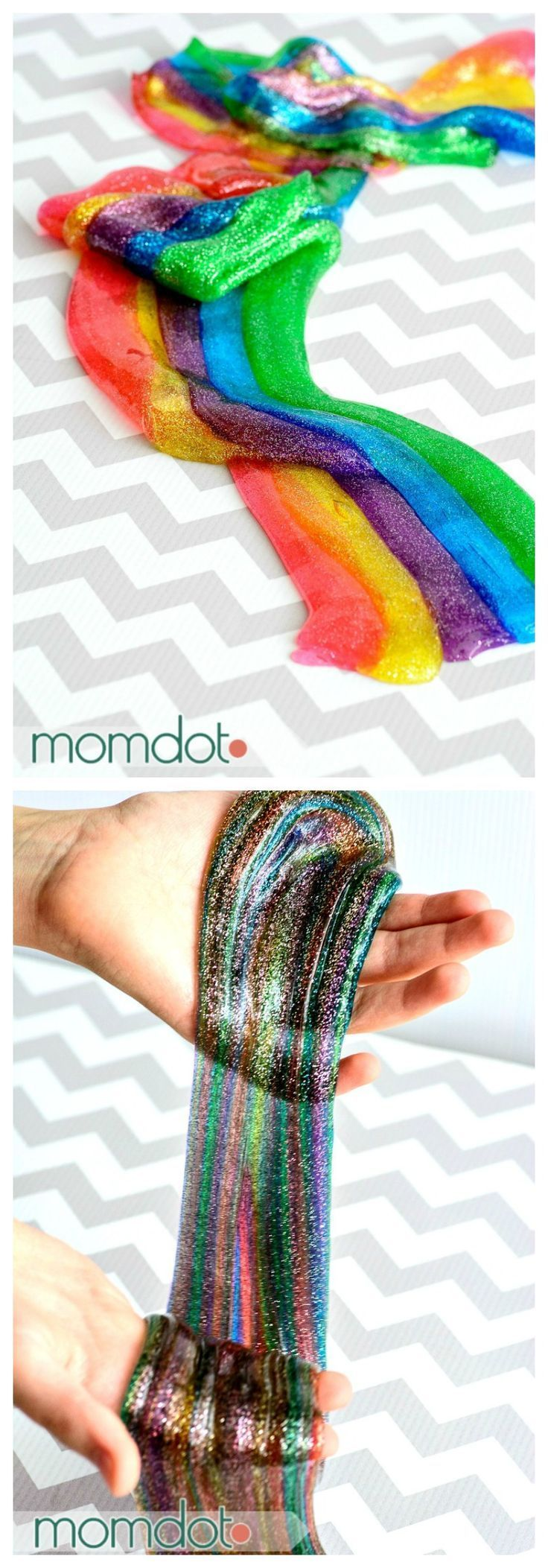 Rainbow Slime: How To Make Rainbow Slime For Sensory Fun And Super Awesome  Playtime