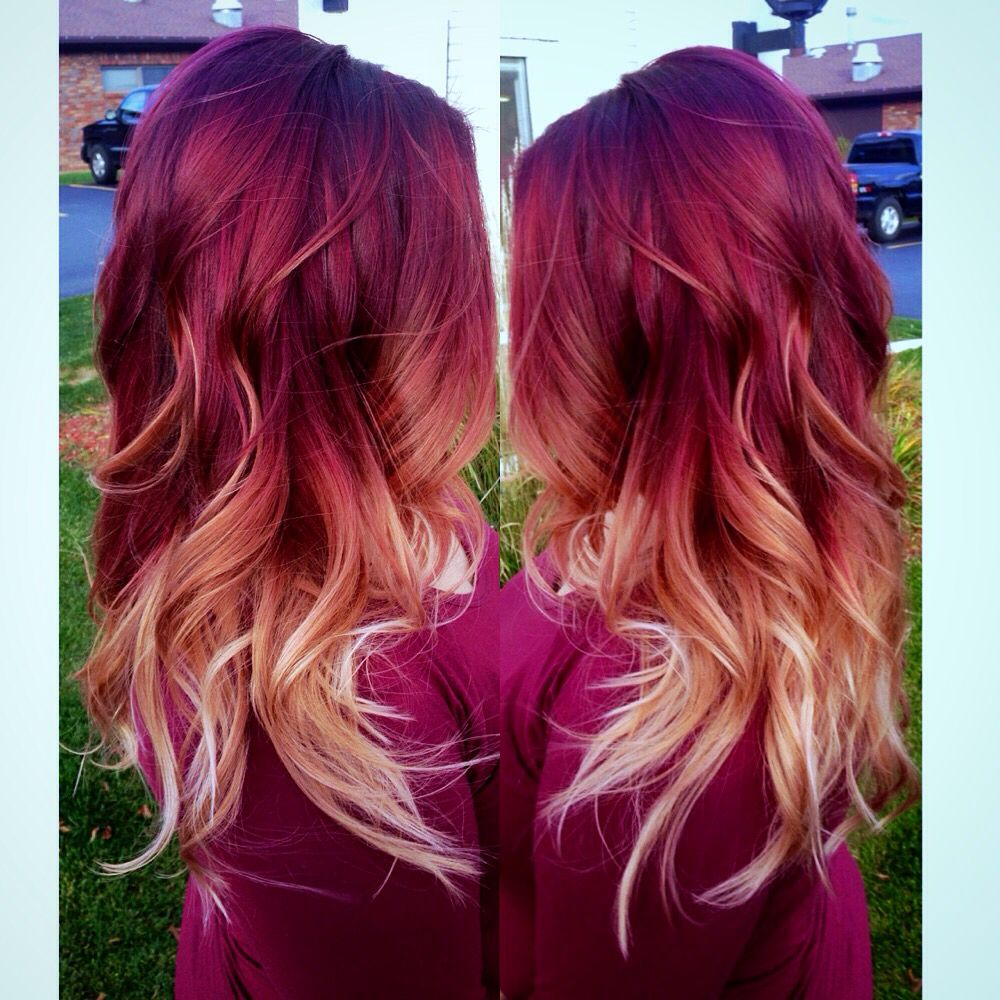 Hair By Samantha Mickelson Ombre Hair Blonde Hair Styles Red