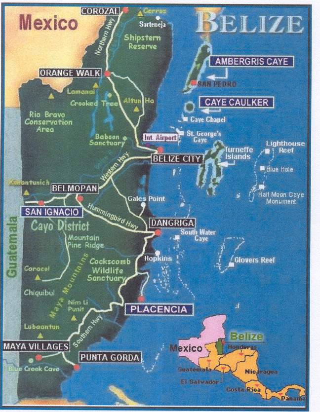 Belize Tourist Map 10488 – Belize Tourist Map