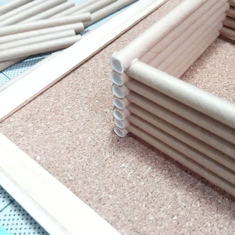 なんか楽しいぞっ ログハウス ミニチュア模型 建築模型 建築模型