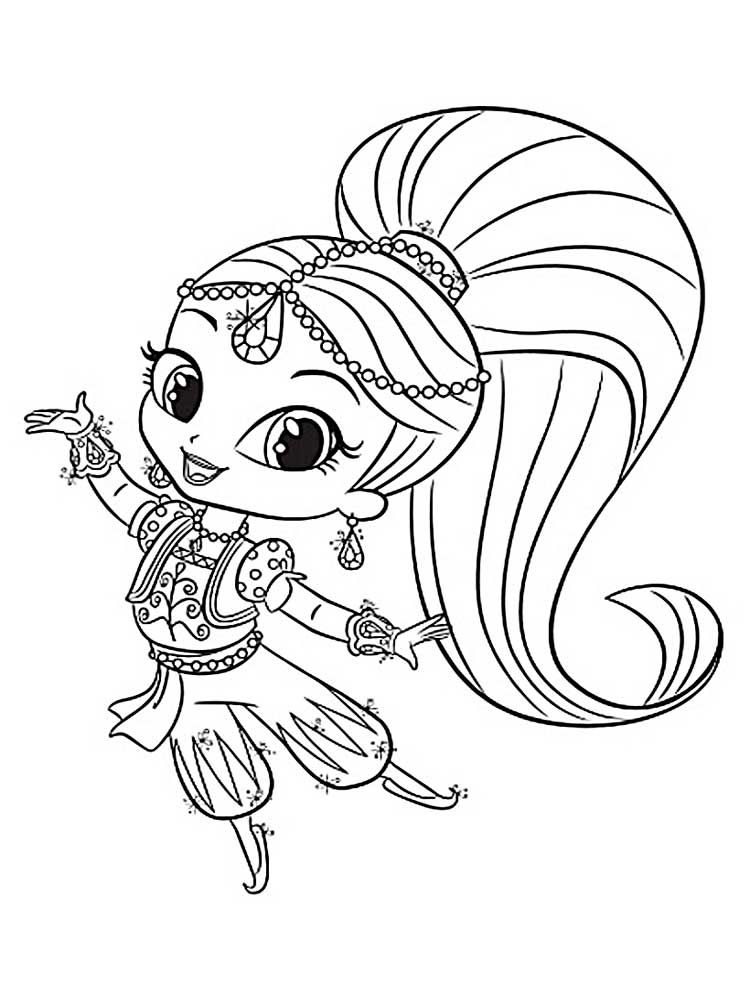 Shimmer And Shine Coloring Page Printables Mermaid Coloring Pages Coloring Pages Coloring Books