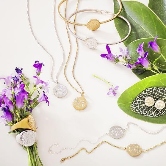 Sarah Chloe Signet Ring Pbteen Monogram Earrings Studs