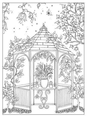 Gazebo Garden Coloring Pages Adult Coloring Pages Coloring Pages