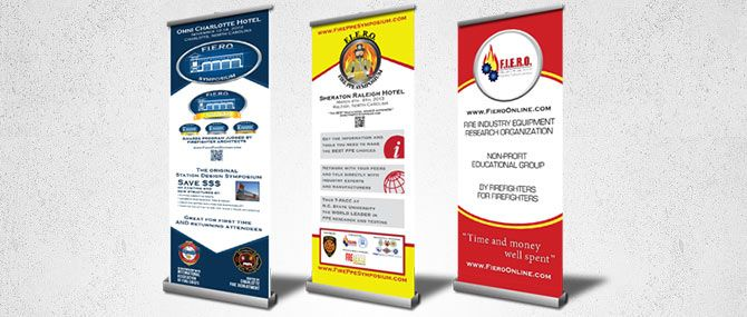 Retractable Banner Stands. Using StickleMe restickables, make your ...