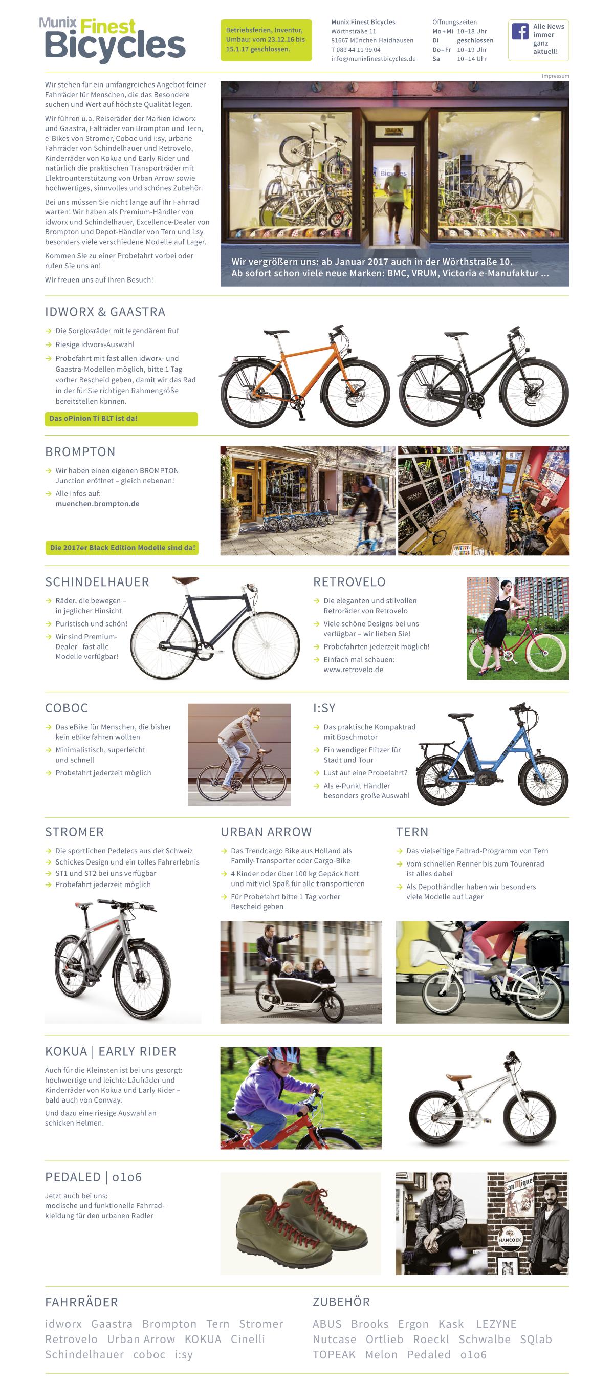 Munix Finest Bicycles Munchen Haidhausen Idworx Gaastra
