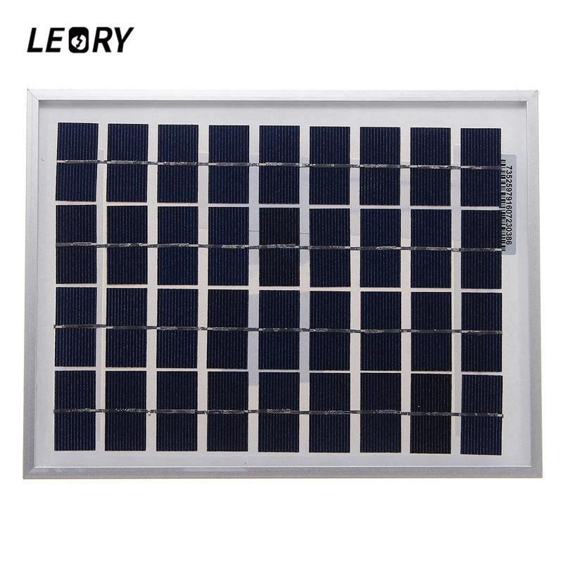 Leory 5 W 18 Vsolar Panel Al Aire Libre Policristalino Celulas Solares Modulo Cargador Para Bateria De 12 V A Solar Panels Outdoor Panels Solar Panels For Home