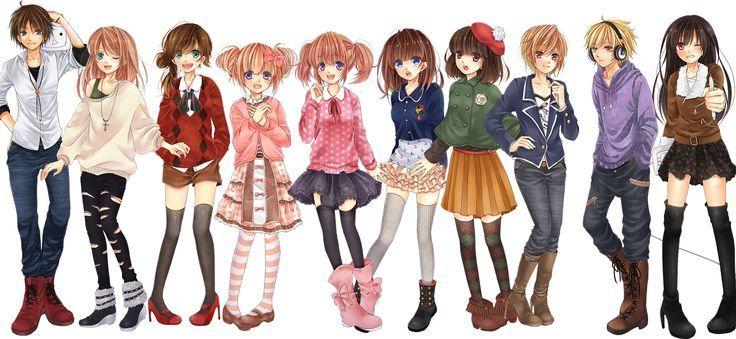 Anime Girl Clothing Styles Pinterest Anime Drawings