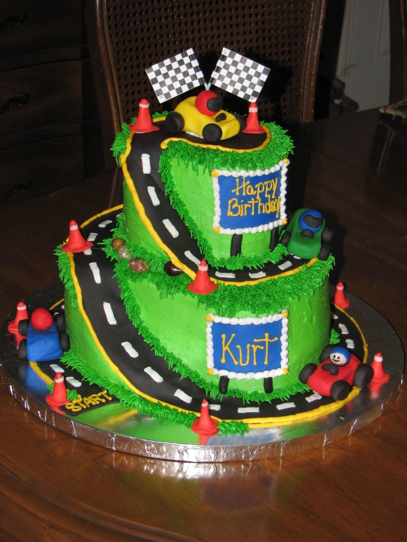 Go Cart Cake 10 Quot Amp 6 Quot B C With Fondant Road Go Carts