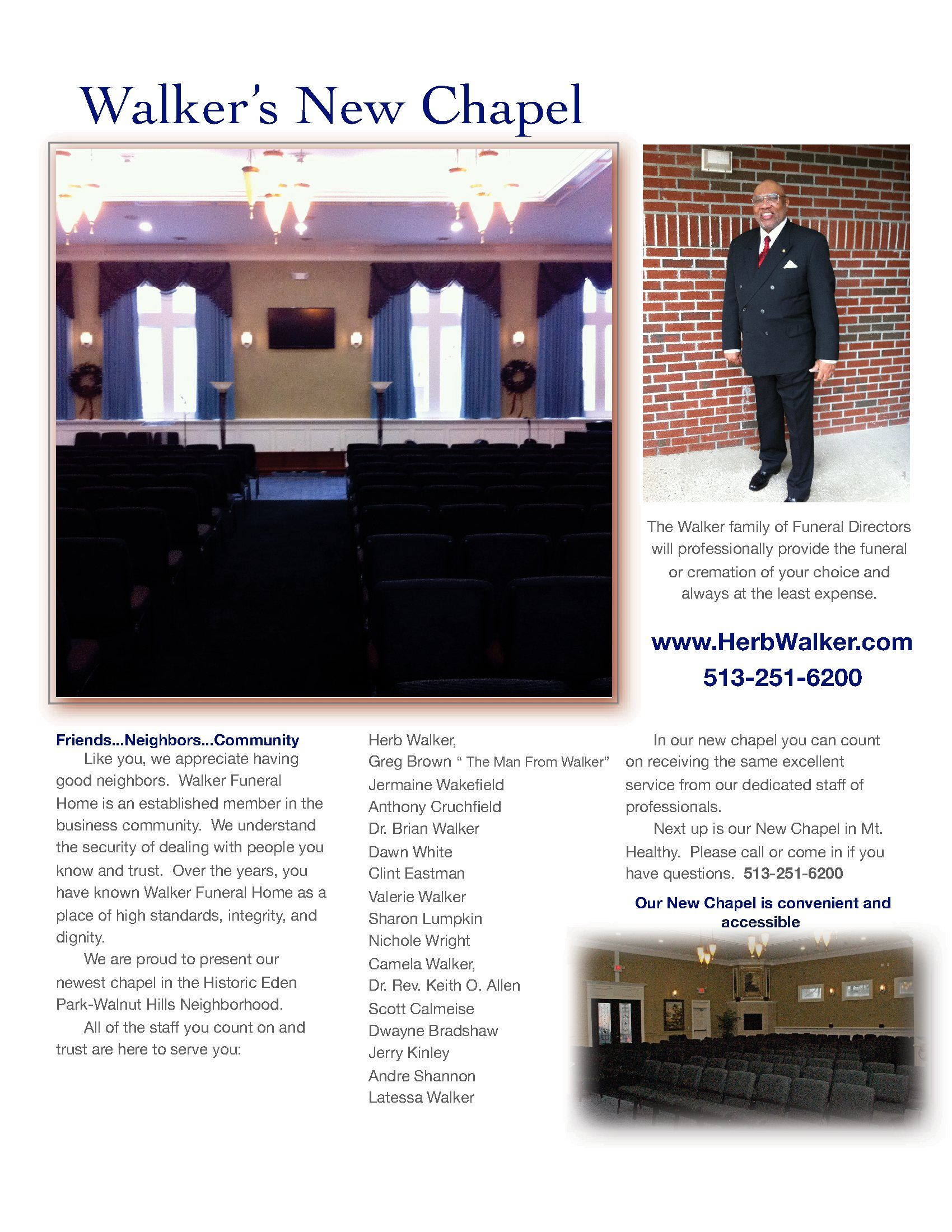 Walker Funeral Home Walnut Hills Chapel