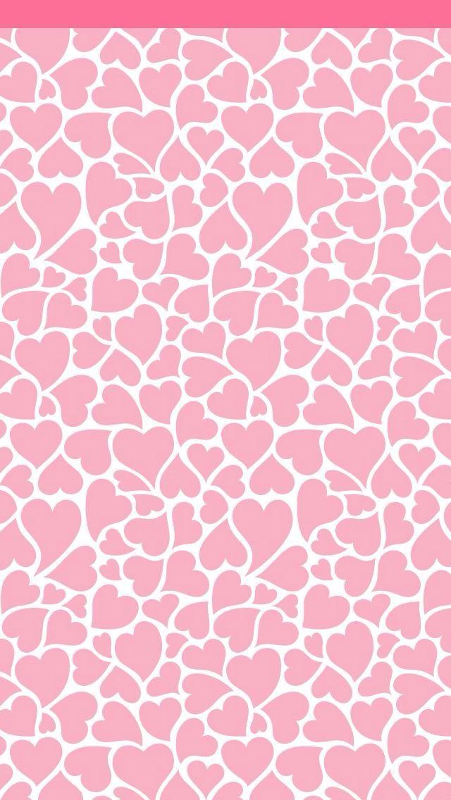 Cute Pink Hearts Wallpaper