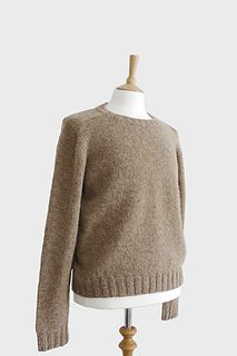 Top down Seamless Men's Saddle Shoulder Sweater | Men