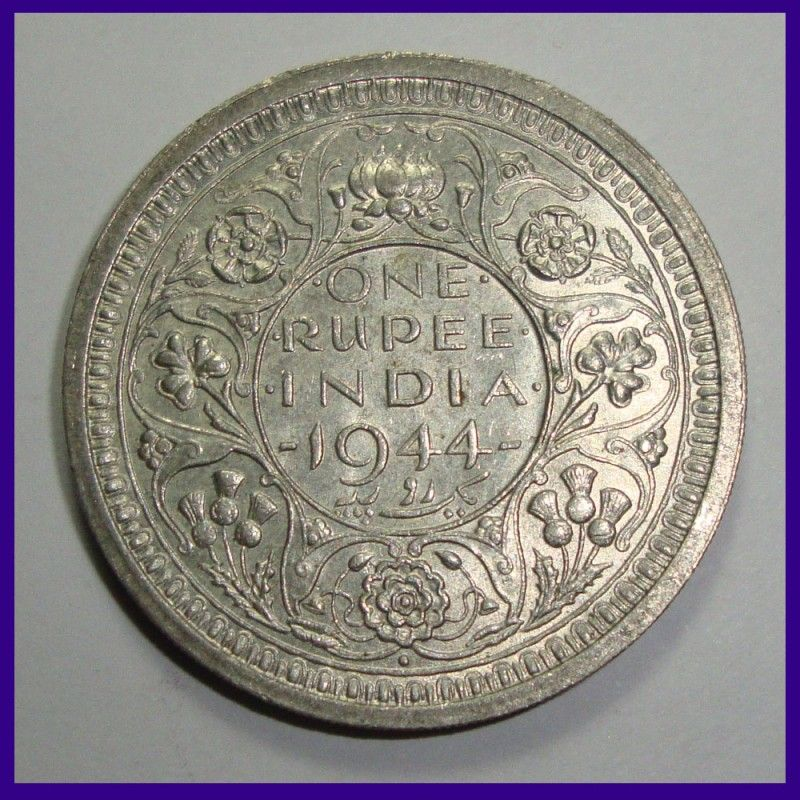 British India 1944 Unc One Rupee George Vi King Silver Coin In 2020 Copper Coins Coins Silver Coins
