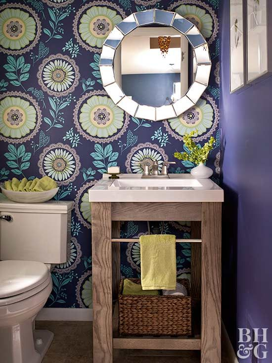 Steal Some Of These Powder Room Designs For Your Own Home Small Bathroom Vanities Small Space Bathroom Unique Bathroom Vanity
