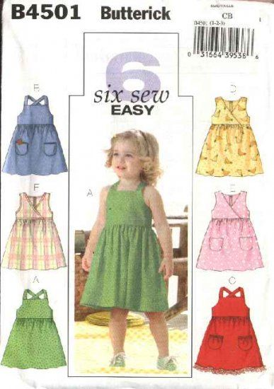 1771fcbc5 Butterick Sewing Pattern 4501 Girls Size 4-5-6 Easy Classic Summer ...