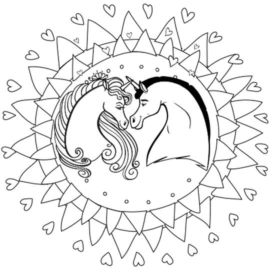Coloriage En Ligne Gratuit De Licorne.Coloriage Mandala Licorne En Ligne Gratuit A Imprimer