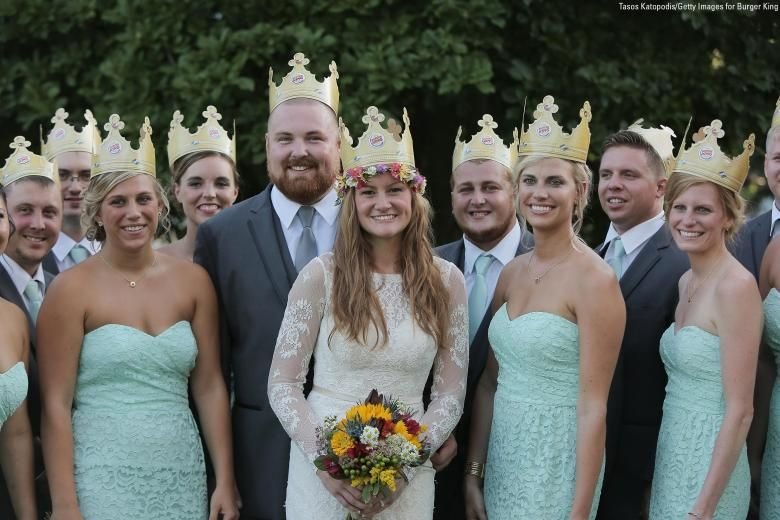 The Burger King Wedding Happened And Burger King Paid For The Whole Thing Wedding Wedding Looks Strapless Wedding Dress