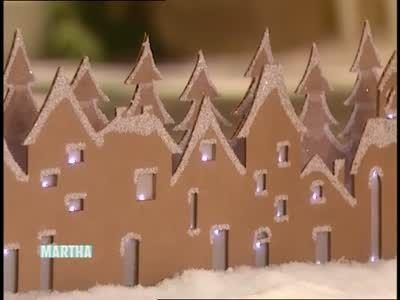 Cardboard Winter Village Scene | Martha stewart christmas ...