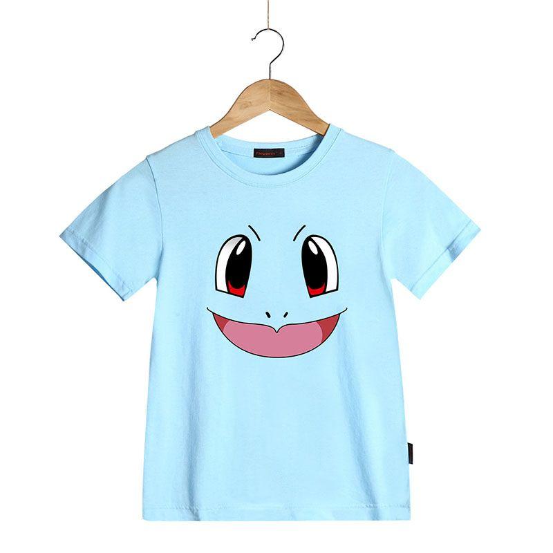 Kids Cartoon T Shirt Pokemon Pikachu Squirtle Charmander