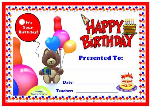 Awards For All Subjects Awards and Certificates That All Teachers - birthday certificate templates free printable