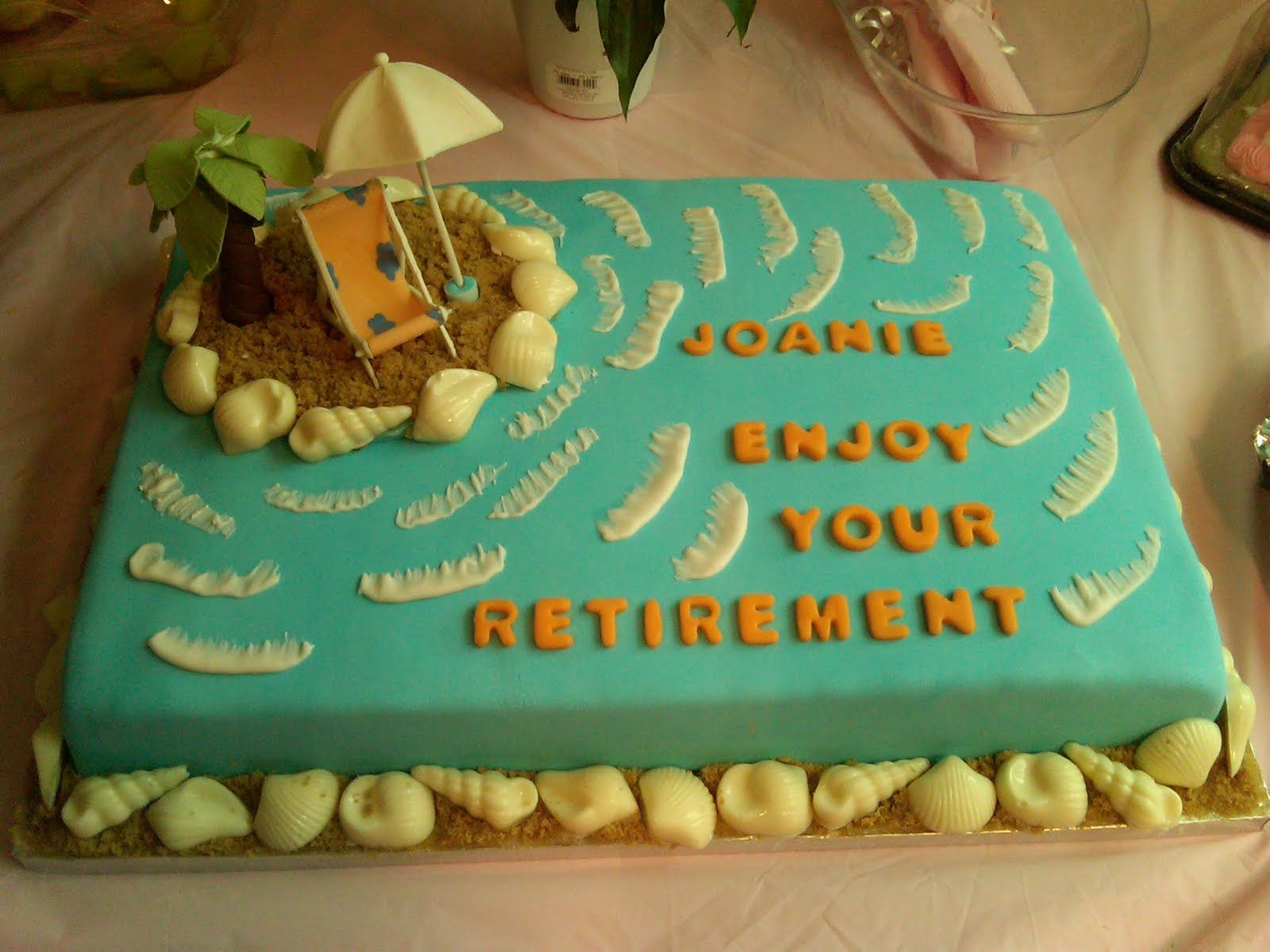 Retirement Party Ideas for electricians Cakes n Goodies: Joanie s Retirement Cake Retirement ...