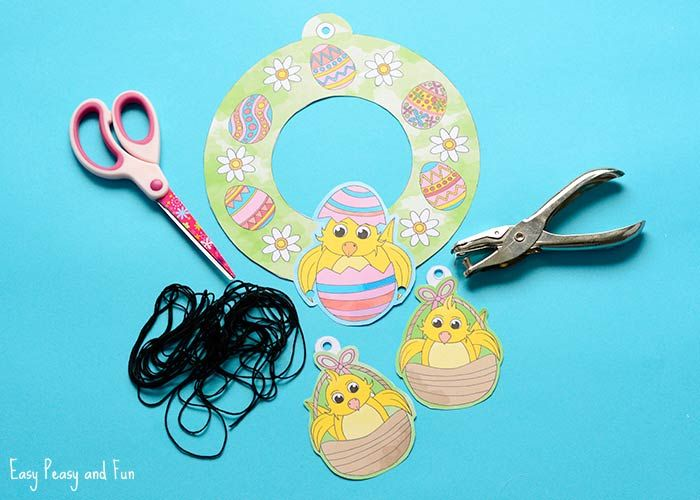 Photo of Printable Easter Wreaths – Easy Peasy and Fun