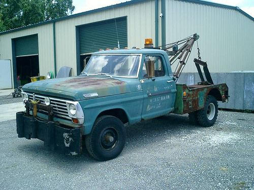 1967 Ford F 250 Wrecker With 34 600 Miles Unusual To Have Original 4 Wheel Drive And Power Steering Tow Truck Ford Trucks F250