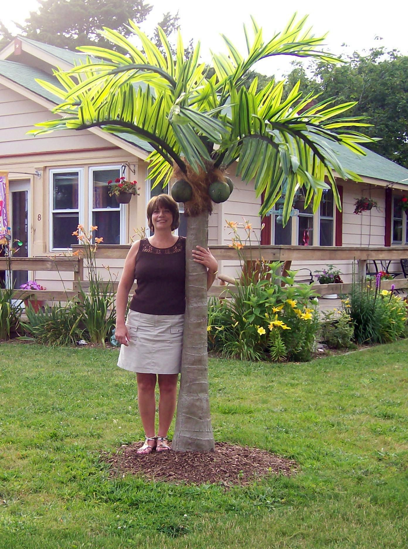 Enhance your surroundings with a Beautiful LED Lighted Palm Tree! Tree looks real and the fronds blow in the wind. Great for your backyard oasis or any business wanting to attract attention. See our Happy Customers in the Palm Tree Gallery at www.MyOutdoorConn... Lory......The Palm Tree Lady