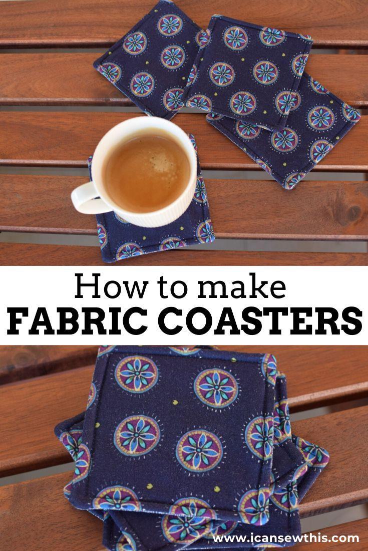 Comment faire des sous-verres en tissu réversibles faciles   – Sewing projects, tutorials and patterns
