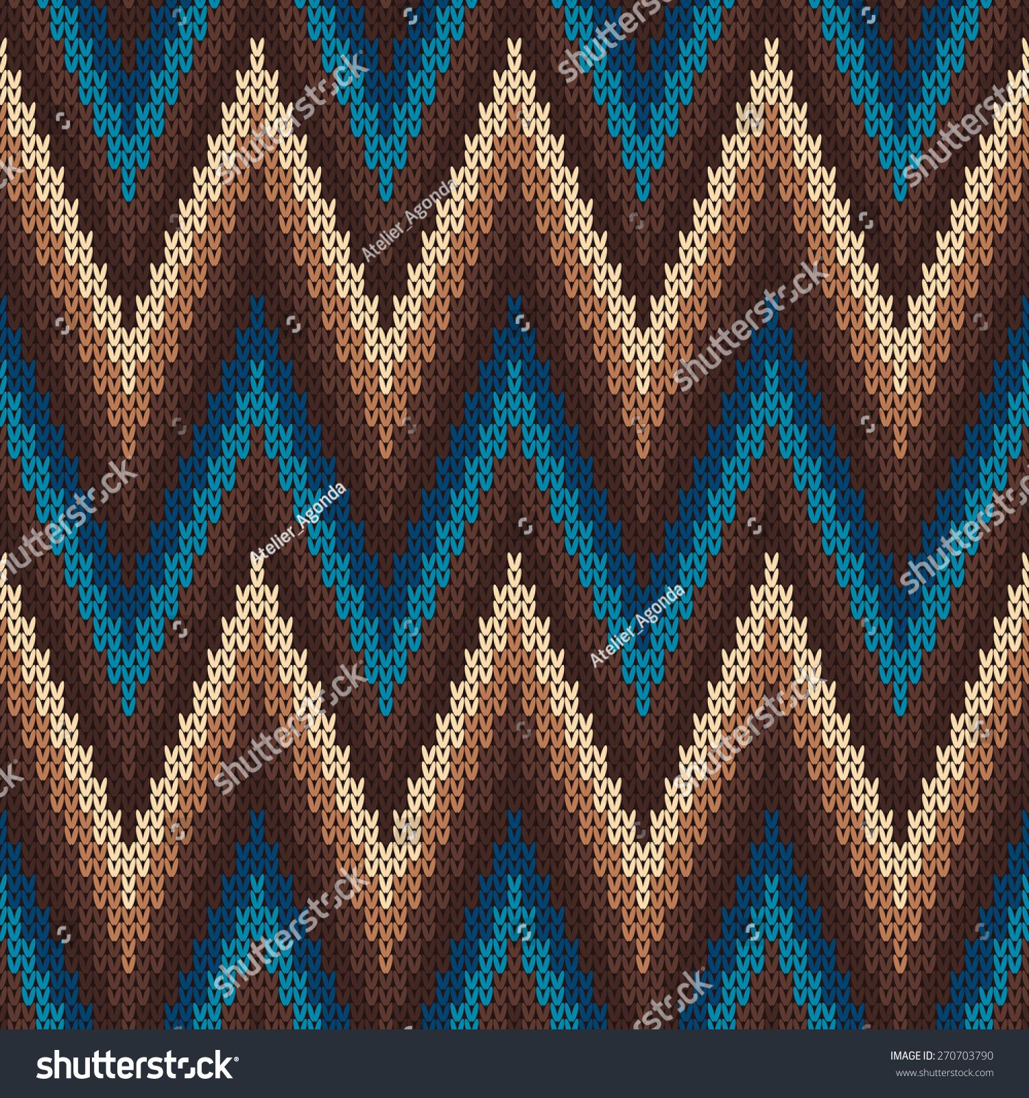 Traditional Fair Isle Pattern. Seamless Knitting Ornament | PATRONES ...
