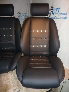 Leather Bucket With Grommet Detailing Classic Car Seats
