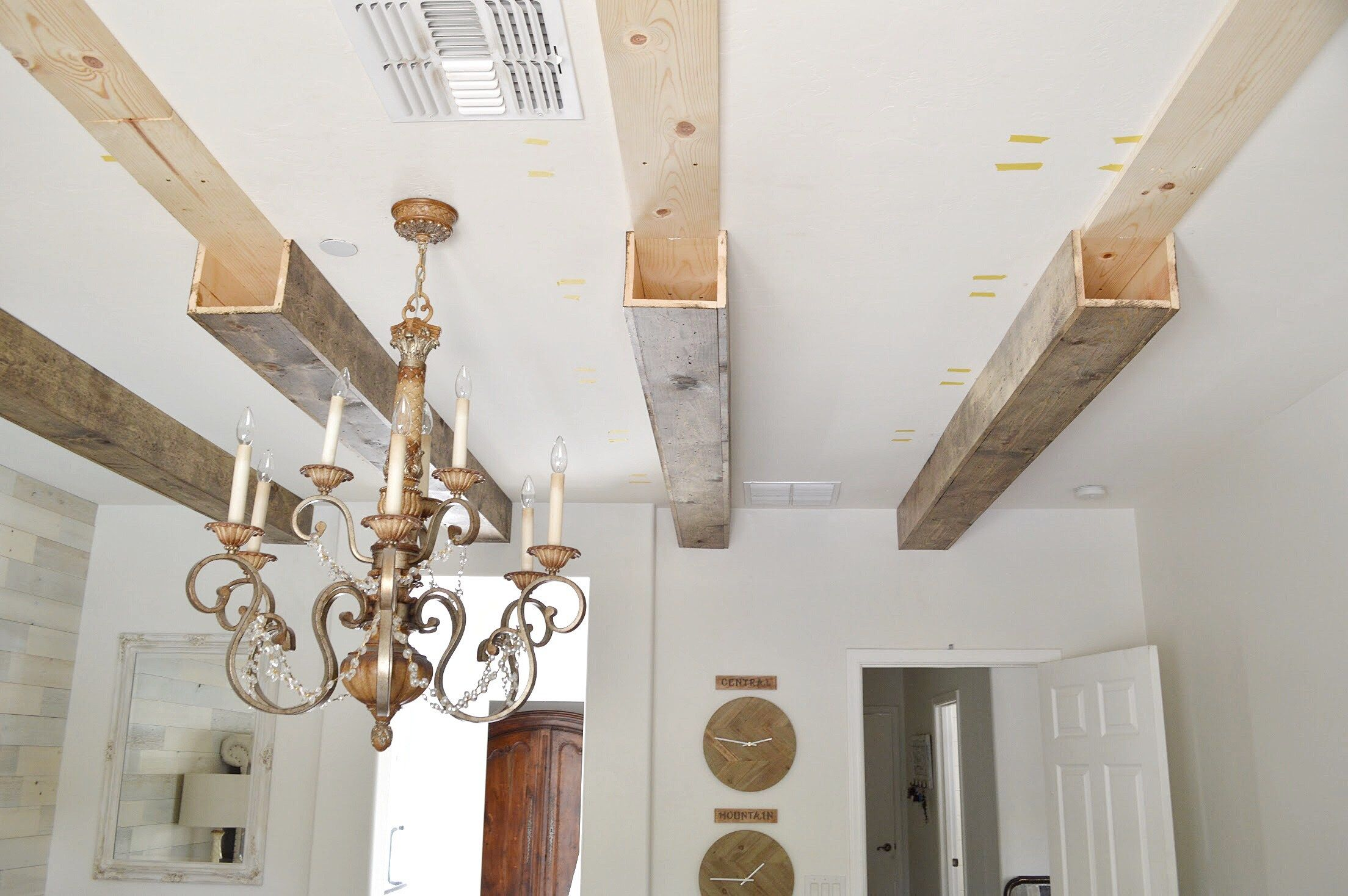 Photo of DIY Faux Wood Beams
