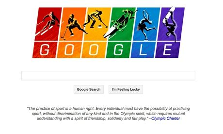 Rainbow Google Doodle Links To Olympic Charter As Sochi Kicks Off Olympics Google Doodles Sochi