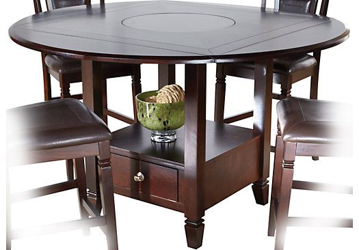 588eca16ef5a Landon Chocolate Round Counter Height Dining Table