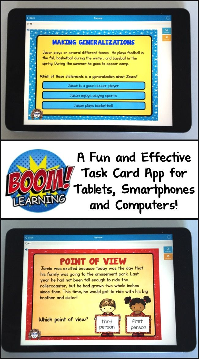 Get Task Cards on Your Tablet, Smart Phone or Computer