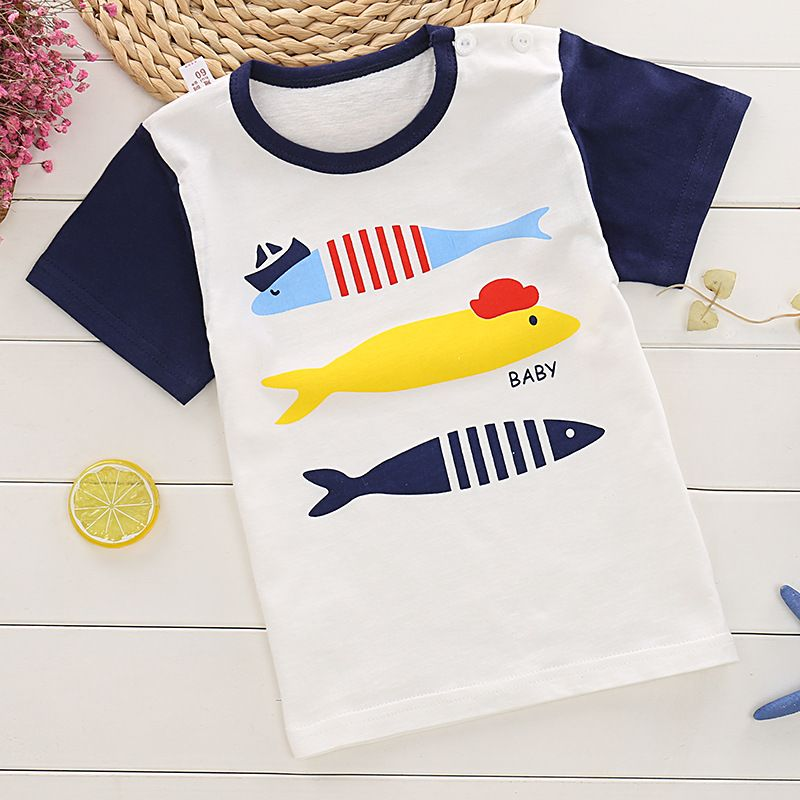 3f243094ee Boys T-Shirts Kids Cartoon Short Sleeve Tops Tees Printed Animals Girls  Children Clothing Cotton Summer T Shirt For Boys. Yesterday s price  US   10.00 (8.28 ...