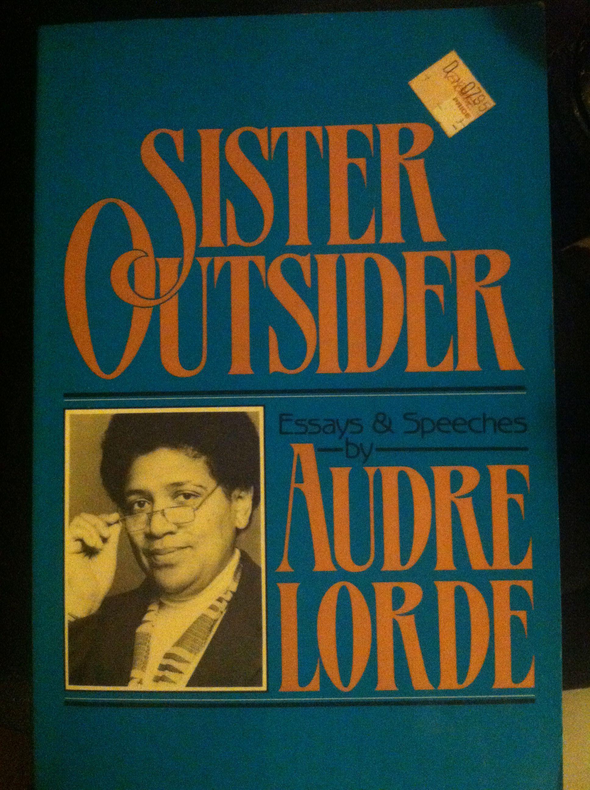 Sister outsider Audre lorde, Books, Feminist writers