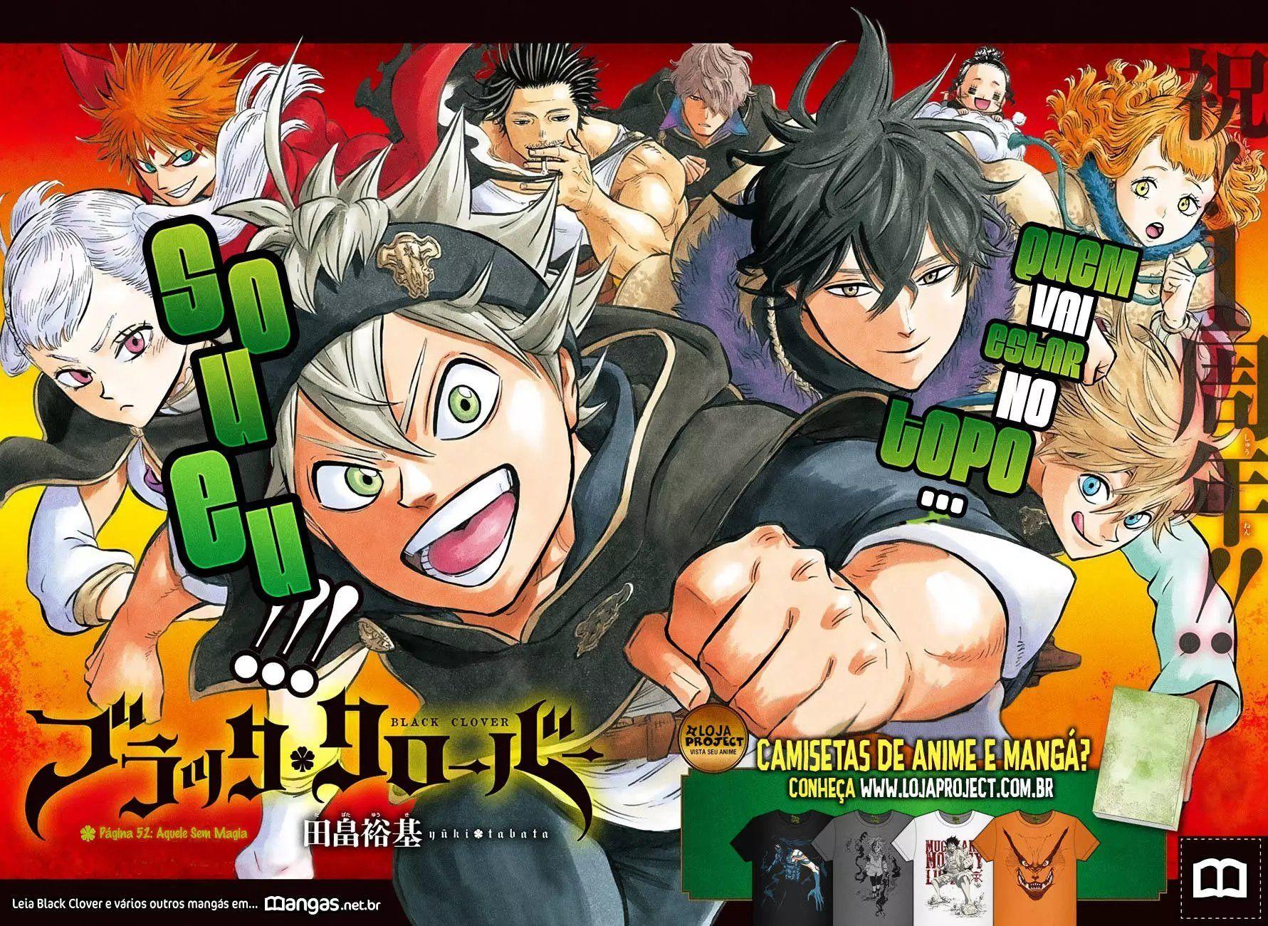Ler mangá Black Clover Capítulo 52 online Ler mangá