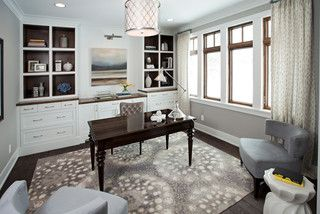 Lake View Luxury Home Transitional Home Office Minneapolis