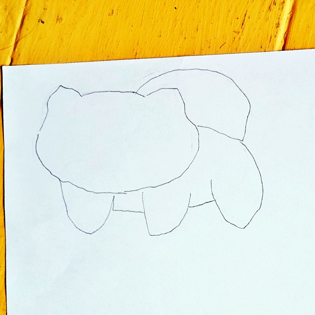Anleitung zum zeichnen des Pokemon Bisasam