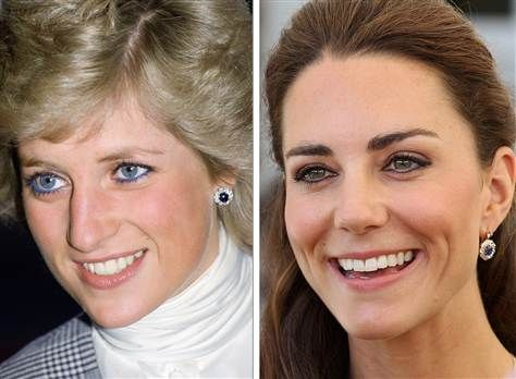 Prince William gives Kate a pair of Diana's earrings | Diana, Lady ...