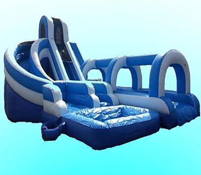 Waterslide slip n slide party rental Harpers Mermaids Pirates