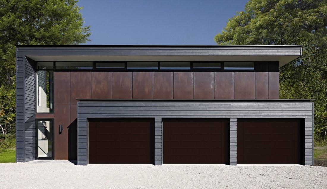 OVERLAP Solid Colour Trackless Garage Door Scotty Doors » Archipro