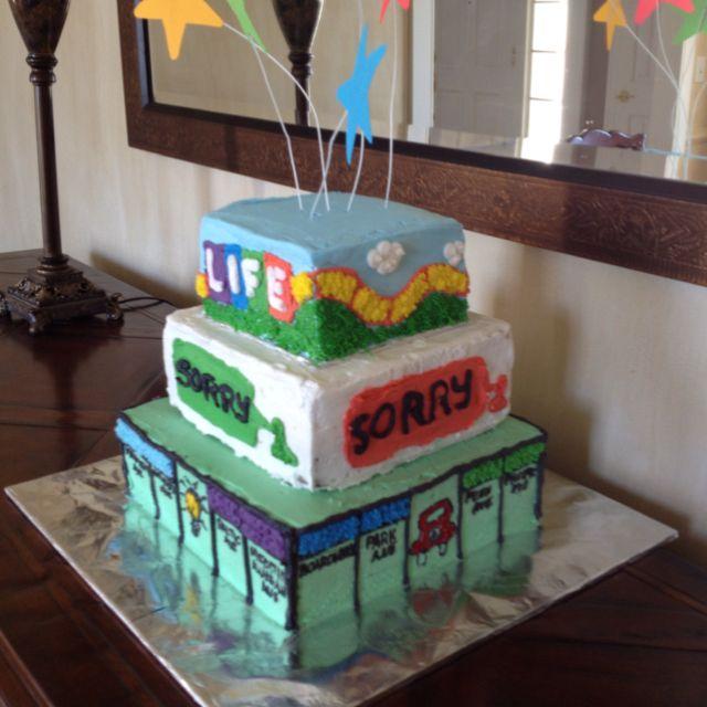 Stevens birthday cake for Board Game Birthday party Kids