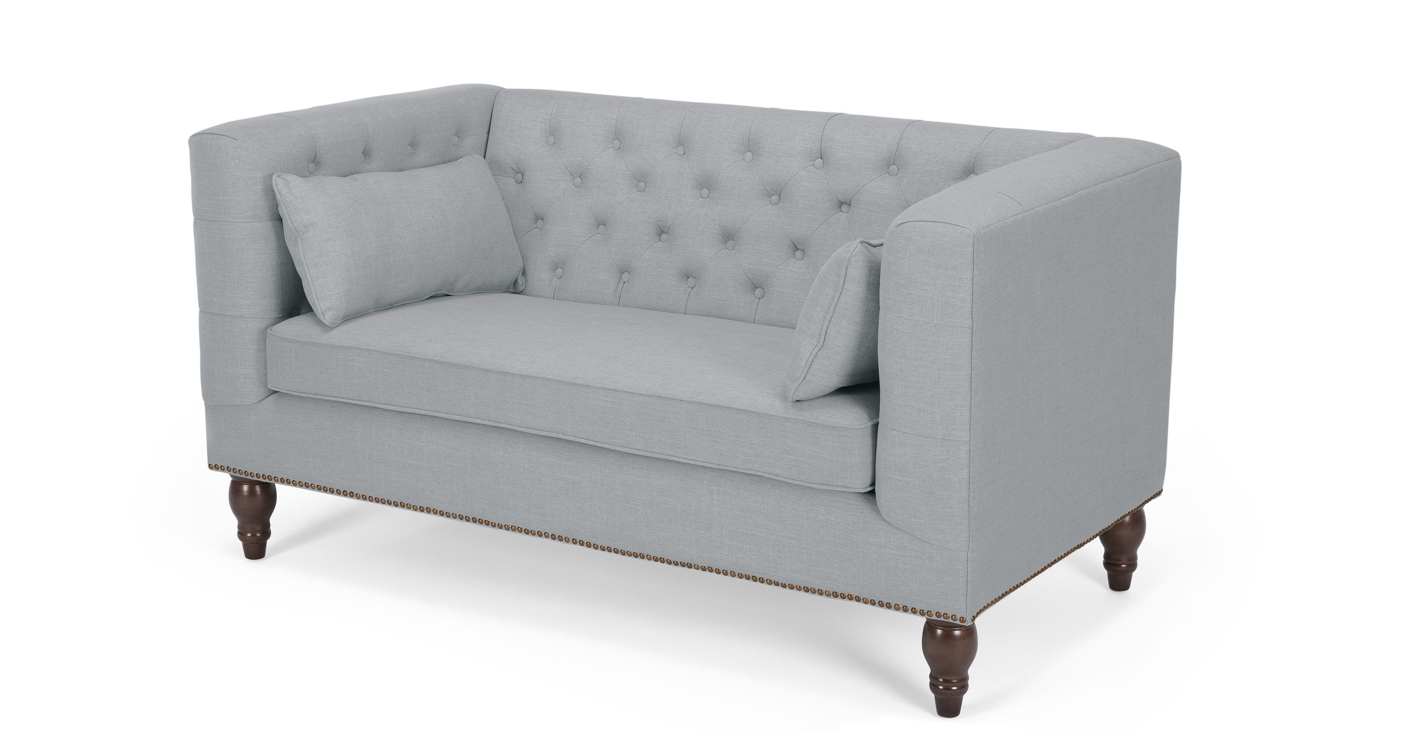 Lovely Flynn 2 Seater Sofa In Persian Grey