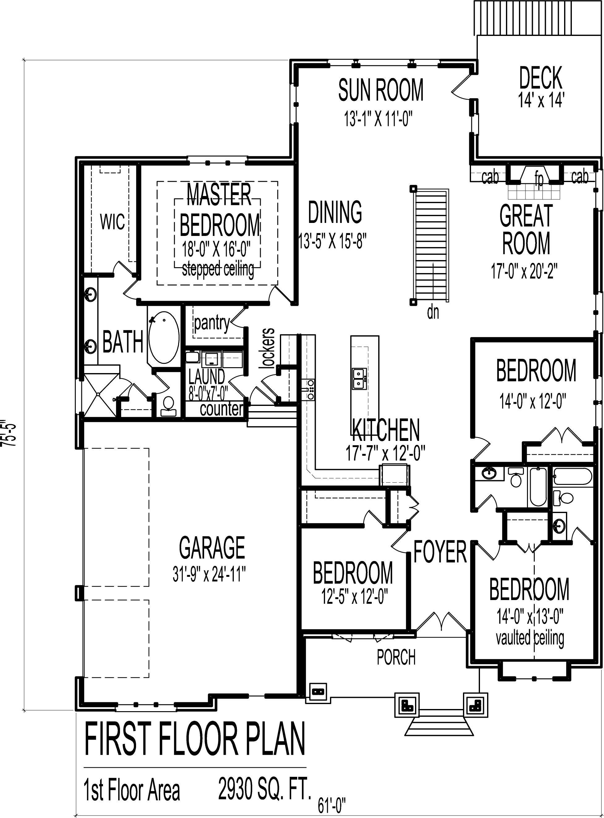 4 Bedroom Luxury Bungalow House Floor Plans Architectural Design 1 Story Bungalow House Floor Plans Bedroom House Plans House Plans