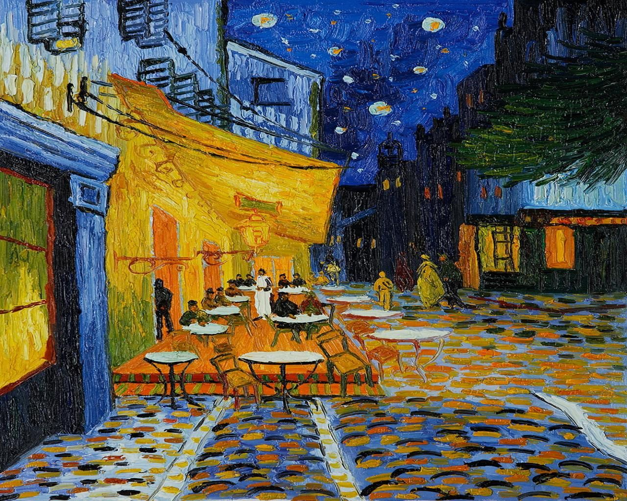 Cafe terrace at night high resolution favorite artwork for The meaning of terrace