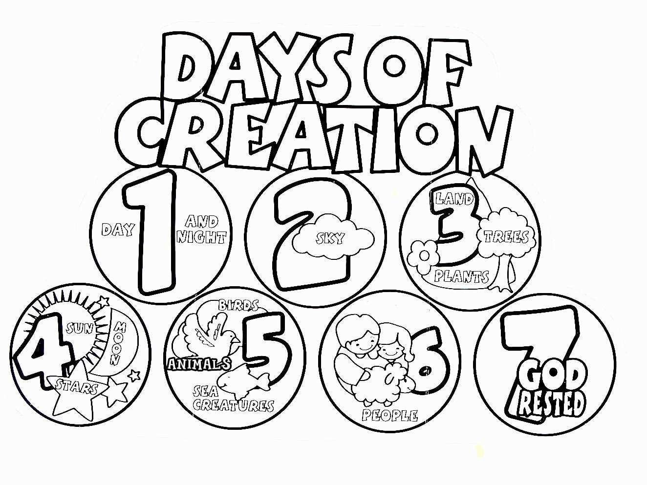 Days Of Creation Coloring Pages Fresh 7 Days Creation Drawing At Paintingvalley Creation Coloring Pages Sunday School Coloring Pages Days Of Creation