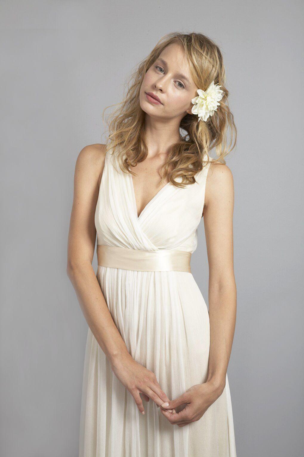 Du6556 vneck elegant silk chiffon shift dress chiffon