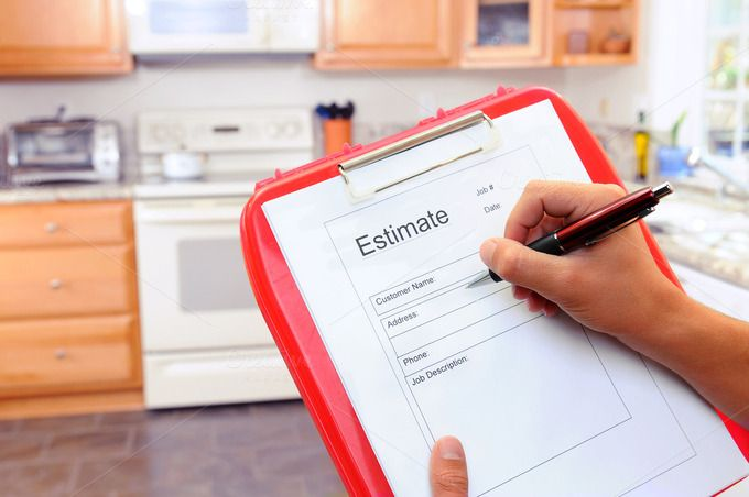 Check out Contractor Writing on Estimate Form by Steve Cukrov